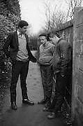 Neville and Friends in an Alley, High Wycombe, UK, 1980s.