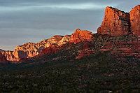 Sunset Panorama Sedona, Arizona. Image 5 of 11 images taken with a Nikon 1 V2 camera and 32 mm f/1.2 lens (ISO 200, 32 mm, f/5.6, 1/40 sec). Raw images processed with Capture One Pro. Panorama generated using AutoPano Giga Pro.