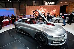 Saab Phoenix concept hybrid sports car at the Geneva Moto Show 2011 Switzerland