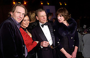 Ralph Fiennes, Francesca Annis, Edward Fox and Lady Saatchi, ( Josephine Hart) Whitbread Book Awards, the Brewery, chiswell St. 27 January 2004. © Copyright Photograph by Dafydd Jones 66 Stockwell Park Rd. London SW9 0DA Tel 020 7733 0108 www.dafjones.com