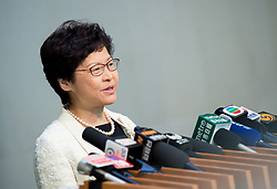 July 3, 2017 - Hong Kong, Hong Kong, Hong Kong SAR,China - HONG KONG, CHINA - JULY 03: Hong Kong's Chief Executive Carrie Lam arrives at work for her official first day following her being sworn into office by Chinese President Xi Jinping during the 20th Anniversary of the handover of Hong Kong to China.Hong Kong, Hong Kong SAR, China on July 1st, 2017. (Credit Image: © Jayne Russell via ZUMA Wire)