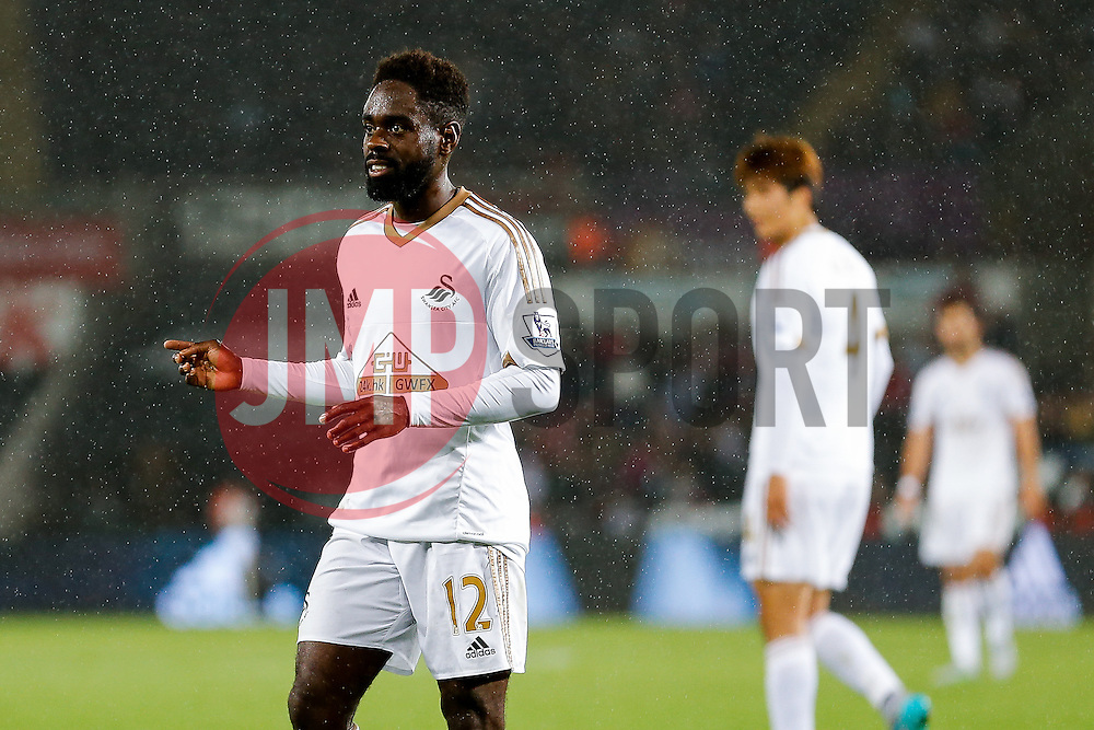 Nathan Dyer of Swansea City looks on - Mandatory byline: Rogan Thomson/JMP - 07966 386802 - 25/08/2015 - FOOTBALL - Liberty Stadium - Swansea, Wales - Swansea City v York City - Capital One Cup Second Round.