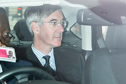 © Licensed to London News Pictures. 03/09/2019. London, UK. Leader of The House of Commons Jacob Ree-Mogg arrives at Parliament . Parliament is returning from the summer recess today with MPs expected to try to stop a no-deal Brexit. Prime Minister Boris Johnson has threatened to hold a snap election if the legislation is passed.  Photo credit: George Cracknell Wright/LNP