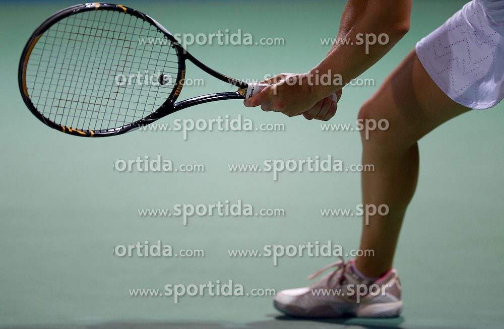 Tennis racket at 1st Round of Singles at Banka Koper Slovenia Open WTA Tour tennis tournament, on July 19, 2010 in Portoroz / Portorose, Slovenia. (Photo by Vid Ponikvar / Sportida)