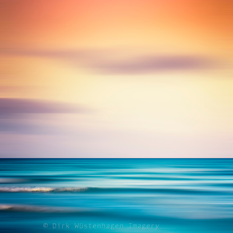 Mediterranean Sea at sunset - abstract photograph<br />