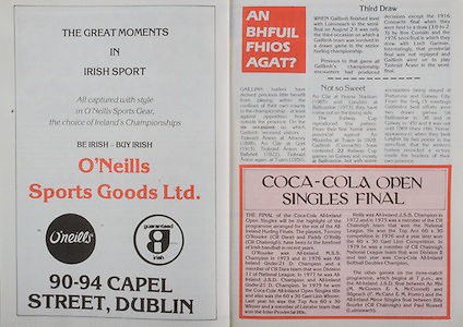 All Ireland Senior Hurling Championship Final, .Galway v Offaly, .06.09.1981, 09.06.1981, 6th September 1981,.Offaly 2-12, Galway 0-15,.06091981AISHCF,.O'Neills Sports Goods, 90-94 Capel St Dublin,