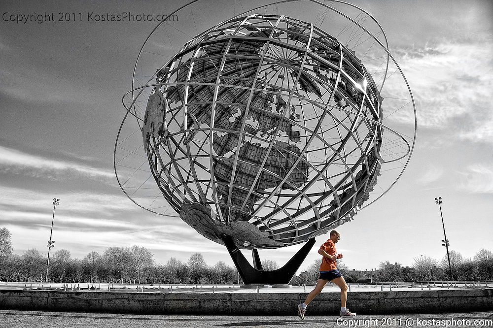 Running marathon nike shoes at the worlds fair