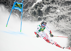 Manuel Feller of Austria competes during 1st run of Men's GiantSlalom race of FIS Alpine Ski World Cup 57th Vitranc Cup 2018, on March 3, 2018 in Kranjska Gora, Slovenia. Photo by Ziga Zupan / Sportida