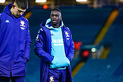 Leeds United forward Jean-Kevin Augustin (29) arrives at the ground during the EFL Sky Bet Championship match between Leeds United and Millwall at Elland Road, Leeds, England on 28 January 2020.