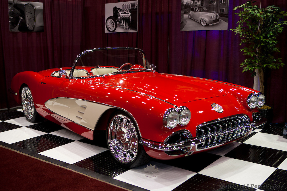 SEMA 2011 in Las Vegas Nevada, an automobile after market show.KinDig-It Designs 1960 Corvette