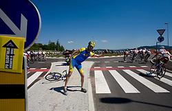 Fan in Grosuplje at 2nd stage of Tour de Slovenie 2009 from Kamnik to Ljubljana, 146 km, on June 19 2009, Slovenia. (Photo by Vid Ponikvar / Sportida)