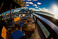 Sunset Bar, Four Seasons Resort Bora Bora, Motu Tehotu, Bora Bora, Society Islands, French Polynesia.