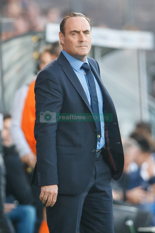September 17, 2017 - Oostende, BELGIUM - Oostende's head coach Yves Vanderhaeghe pictured during the Jupiler Pro League match between KV Oostende and KAA Gent, in Oostende, Sunday 17 September 2017, on the seventh day of the Jupiler Pro League, the Belgian soccer championship season 2017-2018. BELGA PHOTO KURT DESPLENTER (Credit Image: © Kurt Desplenter/Belga via ZUMA Press)