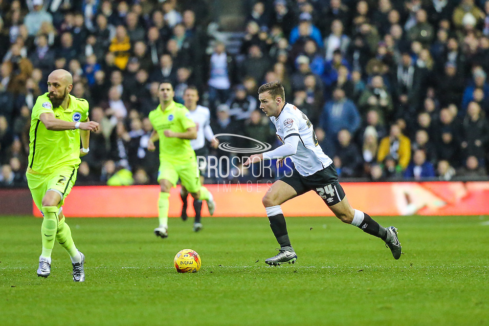 Derby County's Andreas Weimann on the ball during the Sky Bet Championship match between Derby County and Brighton and Hove Albion at the iPro Stadium, Derby, England on 12 December 2015. Photo by Shane Healey.