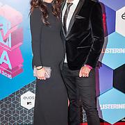 NLD/Rotterdam/20161106 - MTV EMA's 2016, Nick Schilder en zwangere partner Kirstin Hofstee