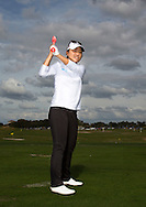 Lydia Ko having a lesson from David Leadbetter Academy at Champions Gate, Orlando, Florida USA<br /> Picture Credit:  Mark Newcombe / www.visionsingolf.com