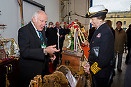 HRH The Princess Royal gets a demonstration of rope skills from Tony &quot;Knotty&quot; Ray during her commemorative visit to Boathouse 4 at Portsmouth Historic Dockyard today. The Boathouse opened last year following a &pound;5.7million restoration and features a boatbuilding academy, The Forgotten Craft exhibition, family activities and Midships restaurant.<br /> Picture date: Monday March 20, 2017.<br /> Photograph by Christopher Ison &copy;<br /> 07544044177<br /> chris@christopherison.com<br /> www.christopherison.com