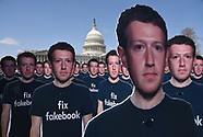 100 cutouts depicting Facebook CEO Mark Zuckerberg are placed in U.S Capitol - 10 April 2018
