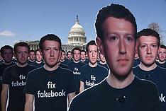 100 cutouts depicting Facebook CEO Mark Zuckerberg are placed in U.S Capitol - 10 April 2018