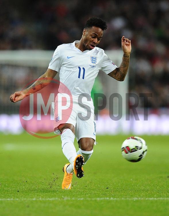 Raheem Sterling of England (Liverpool)  - Photo mandatory by-line: Joe Meredith/JMP - Mobile: 07966 386802 - 15/11/2014 - SPORT - Football - London - Wembley - England v Slovenia - EURO 2016 Qualifier