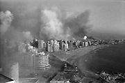 Beyrouth, Liban. 01-08-82. Bombardement Israelien sur beyrouth ouest.(vue de Raouche..©Herve? Merliac..Beirut, Lebanon Aug 1st 1982. Israeli bombing over west-Beirut. ( picture taken from Raouche).©Herve? Merliac