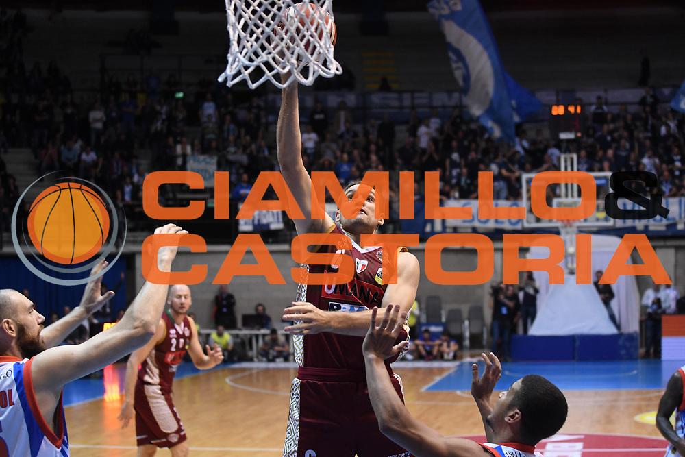 Michael Bramos<br /> Red October Cantu - Umana Reyer Venezia<br /> LegaBasket Serie A 2017/2018<br /> Desio, 11/11/2017<br /> Foto M.Ceretti / Ciamillo-Castoria