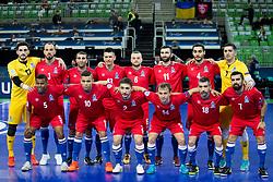 Players of team Azerbaijan during futsal match between France and Azerbaijan at Day 4 of UEFA Futsal EURO 2018, on February 2, 2018 in Arena Stozice, Ljubljana, Slovenia. Photo by Urban Urbanc / Sportida