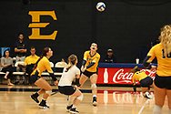 October 28, 2017 - Johnson City, Tennessee - Brooks Gym: ETSU outside hitter Rylee Milhorn (15)<br /> <br /> Image Credit: Dakota Hamilton/ETSU