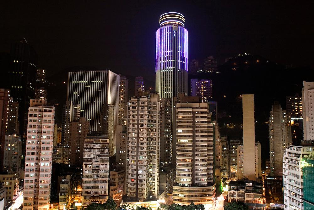 Night cityscape in Wan Chai