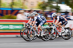 Trixi Worrack (GER) leads the Trek Segafredo 'wall' protecting Winder during Stage 4 of 2020 Santos Women's Tour Down Under, a 42.5 km road race in Adelaide, Australia on January 19, 2020. Photo by Sean Robinson/velofocus.com
