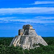 Uxmal # 1         Templo del Adivino. Uxmal. Yucatan, Mexico.