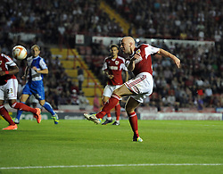 Bristol City's James O'Connor  - Photo mandatory by-line: Joe Meredith/JMP - Tel: Mobile: 07966 386802 04/09/2013 - SPORT - FOOTBALL -  Ashton Gate - Bristol - Bristol City V Bristol Rovers - Johnstone Paint Trophy - First Round - Bristol Derby