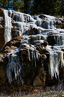 Frozen waterfall in Rocky Mountain National Park. Image taken with a Nikon D300 camera and 80-400 mm VR lens (ISO 200, 80 mm, f/8, 1/640 sec).
