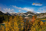 Barrier Lake in autumn in Kananaskis Country, Alberta, Canada