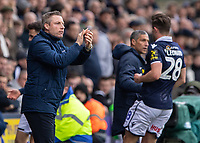 Football - 2018 / 2019 Emirates FA Cup - Sixth Round, Quarter Final : Millwall vs. Brighton<br /> <br /> Millwall Manager Neil Harris encourages his team forward at the Den<br /> <br /> COLORSPORT/DANIEL BEARHAM