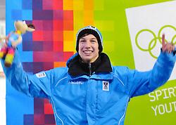 "21.01.2012, Bobbahn Igls, Innsbruck, AUT, Olympische Jugend Winterspiele, Skeleton, Herren, im Bild Stefan Richard Geisler (AUT) // Stefan Richard Geisler (AUT). during the Mens Skeleton of the Winter Youth Olympic Games at the ""Bob Track Igls"", Innsbruck, Austria on 2012/01/21, EXPA Pictures © 2012, PhotoCredit: EXPA/ Juergen Feichter"