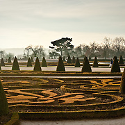 Formal gardens at Palace of Versailles, France.