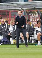 27th August 2017, Dens Park, Dundee, Dundee; Scottish Premier League football, Dundee versus Hibernian; Dundee manager Neil McCann