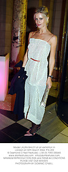 Model LAURA BAILEY at an exhibition in London on 30th March 2004.PTA 209