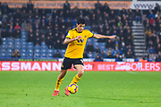Raul Jimenez of Wolverhampton Wanderers (9) in action during the Premier League match between Huddersfield Town and Wolverhampton Wanderers at the John Smiths Stadium, Huddersfield, England on 26 February 2019.