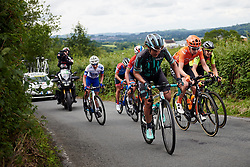 Leah Thomas (USA) on Bethlehem Hill climb during Stage 6 of 2019 OVO Women's Tour, a 125.9 km road race from Carmarthen to Pembrey, United Kingdom on June 15, 2019. Photo by Sean Robinson/velofocus.com