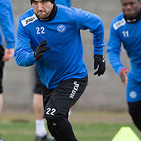 St Johnstone Training....Lee Croft pictured in training<br /> Picture by Graeme Hart.<br /> Copyright Perthshire Picture Agency<br /> Tel: 01738 623350  Mobile: 07990 594431