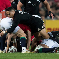 Aaron Smith during game 7 of the British and Irish Lions 2017 Tour of New Zealand, the first Test match between  The All Blacks and British and Irish Lions, Eden Park, Auckland, Saturday 24th June 2017<br /> (Photo by Kevin Booth Steve Haag Sports)<br /> <br /> Images for social media must have consent from Steve Haag