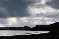 Members of the German Piraten Partei by Lake Kleifarvatn on the Reykjanes Peninsula, Iceland.