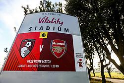 General View outside the Vitality Stadium - Rogan/JMP - 25/11/2018 - FOOTBALL - Vitality Stadium - Bournemouth, England - Bournemouth v Arsenal - Premier League.