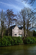 Maidenhead, United Kingdom.  General View, GV.  Timber Clad property backing on to the Cut approach to the Boulters Lock .<br /> <br /> Friday  06/04/2018<br /> <br /> © Peter SPURRIER<br /> Leica Camera AG M9 Digital Camera. ISO 80    Lens 35mm f1.4 Voigtlander Nokton Classic