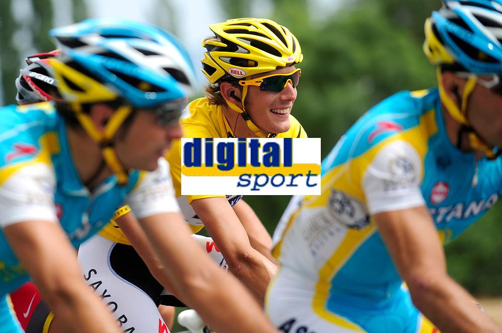 CYCLING - TOUR DE FRANCE 2010 - REVEL (FRA) - 17/07/2010 - PHOTO : VINCENT CURUTCHET / DPPI - <br /> STAGE 13 - RODEZ > REVEL - ANDY SCHLECK (LUX) / SAXO BANK