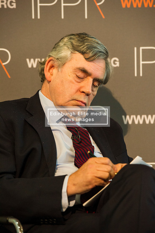 Pictured: Gordon Brown<br /> <br /> Gordon Brown delivered and address on Britain's future relationship with the European Union in Edinburgh today which is the first in a UK-wide series hosted by IPPR, Institute for Public Policy Research<br /> <br /> Ger Harley | EEm 29 June 2016