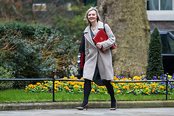 © Licensed to London News Pictures. 20/03/2018. London, UK. Chief Secretary to the Treasury Elizabeth Truss on Downing Street for the Cabinet meeting. Photo credit: Rob Pinney/LNP