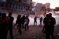 Protesters clash with the Egypt military in the streets around Cairo's Tahrir Square in the third straight day of violence that has killed at least 24 people and has turned into the most sustained challenge yet to the rule of Egypt's military. Protesters want the military to quickly announce a date for the transfer of power to a civilian administration. November 21, 2011 – Cairo, Egypt -